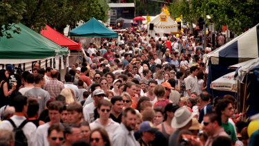 Thousands flock to the Lygon Street Festival.