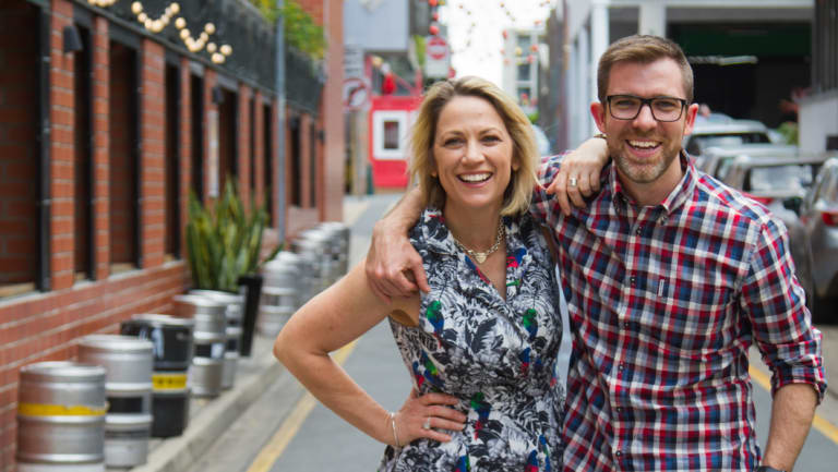 The ABC's new breakfast co-hosts for 2019; Loretta Ryan and Craig Zonca.