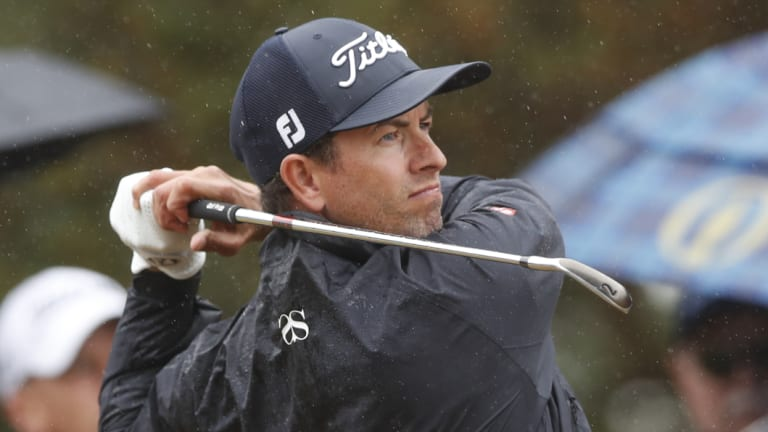 Focused: Adam Scott has maintained his return to form.