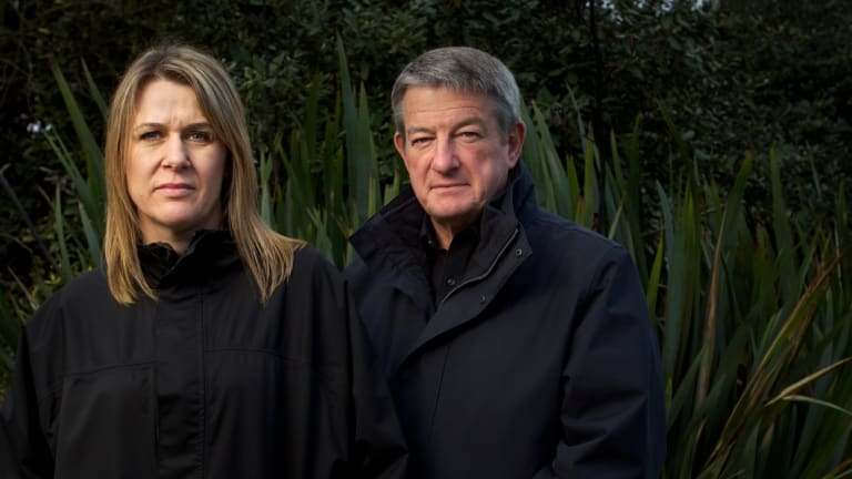 Carley Nicholls and Jim Hopkins in 2013. Nicholls owned the Ventnor property on Phillip Island controversially rezoned by planning minister Matthew Guy in September 2011.