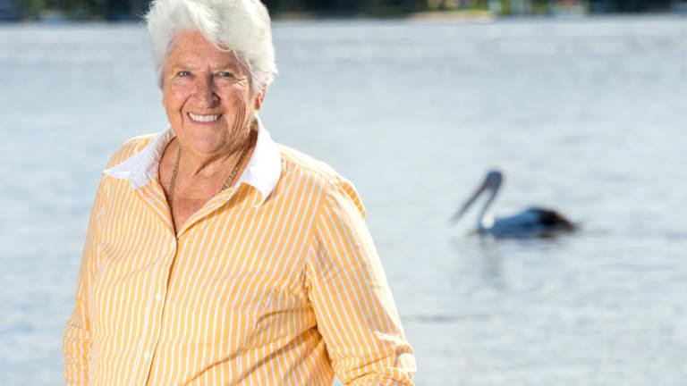 Australia swimming legend Dawn Fraser.