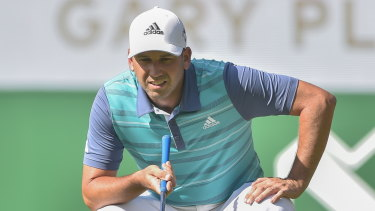 Fast start: Sergio Garcia in action during the first round in South Africa.