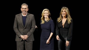 Steve Carell, Reese Witherspoon and Jennifer Aniston will star in The Morning Show for Apple.