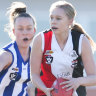 Number of women playing footy surges post AFLW