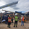 Man injured after becoming trapped in rock crushing machinery