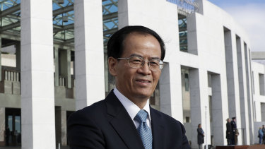 Chinese ambassador to Australia Cheng Jingye.