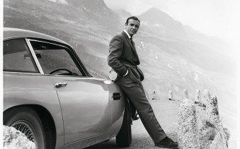 Bond with his Aston Martin