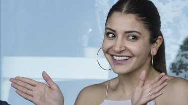 Anushka Sharma, Indian actress and wife of India Test team captain Virat Kohli in the private India suite at the SCG.