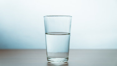 A safer bet? A glass of water.