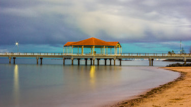 The Redcliffe jetty during sunset on a cloudy day. (File image)