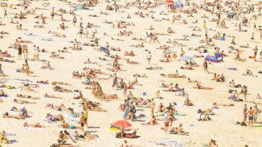 Bondi Beach pre-pandemic.