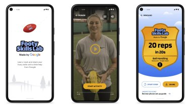 Google has teamed up the AFL to create the Footy Skills Lab.