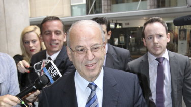 Eddie Obeid arriving at the ICAC in Sydney in 2013.