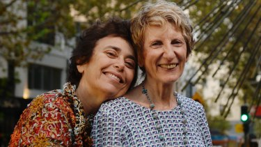 Dawn Grace-Cohen with her wife, Robyn Grace, who was arrested in 1978 during the first Mardi Gras protests.