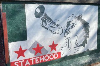 A DC statehood mural in Washington, DC.