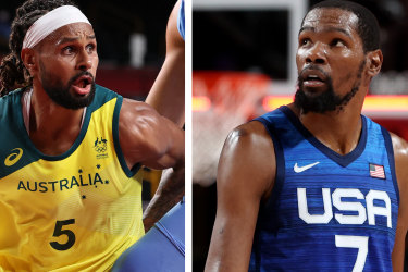 Patty Mills and Kevin Durant.