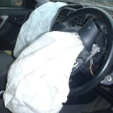 A Takata airbag in a RAV4 SUV, responsible for injuring a 21-year-old in Darwin.