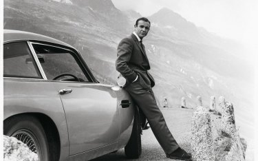 Bond with his Aston Martin