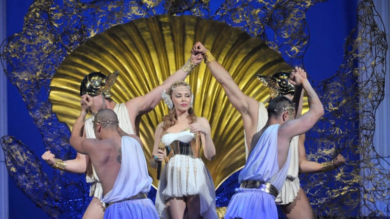Kylie Minogue wows fans at Melbourne's  Rod Laver in 2011.