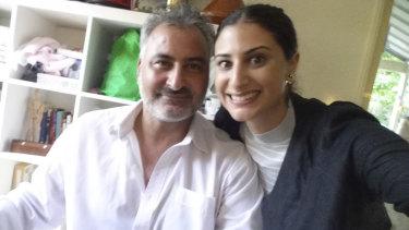 Mr Hamouda with his Australian-born daughter, Lamisse.