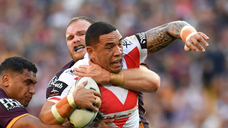 Life on the edge: St George Illawarra's Tyson Frizell is one of the best edge forwards in the game.