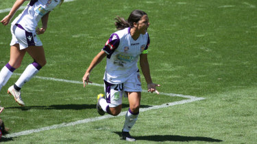Hear me roar: Sam Kerr is one of the world's best players, but her Perth Glory coach, Bobby Despotovski, believes she can still improve.