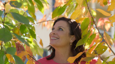 Jenny Morrison, wife of Scott Morrison, in the gardens of The Lodge in Canberra.