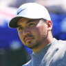 Jason Day during a practice round at Royal Portrush.
