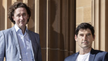 AFR journalists and authors of  Buy Now Pay Later book, James Eyers and Jonathan Shapiro
