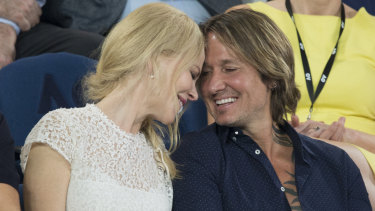 Kidman and her husband Keith Urban at the Australian Open last week.