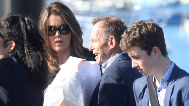 Former prime minister Tony Abbott was also there alongside his former chief-of-staff Peta Credlin.