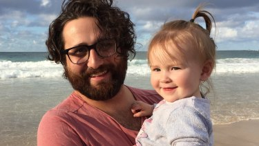 Matt D'Abrera and his niece Amira..
