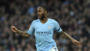 Manchester City's Raheem Sterling apologised to the referee after the match.