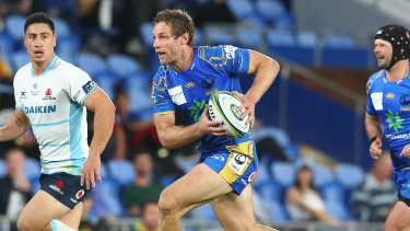 Kyle Godwin in action for the Western Force in Super Rugby AU.