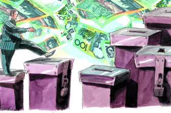 Political donations aren't the only form of influence-peddling. Illustration: Rocco Fazzari