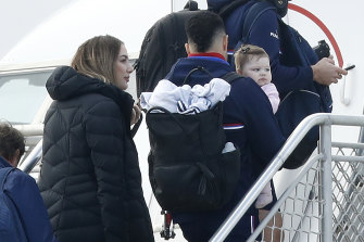 Jason Johannisen and his family head out on the AFL's July exodus to Queensland.