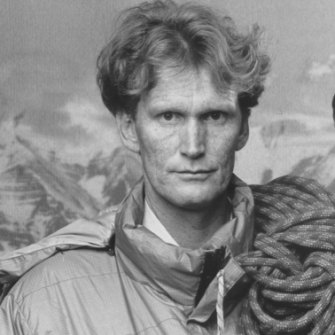 Greg Mortimer, after the first Australian ascent in 1984.