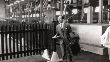 A rare photograph of Cerruti taken in 1957.