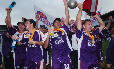 Glory days: QBE were there when the Glory won the NSL grand final in 2004.