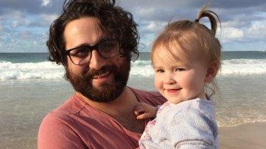 Matt D'Abrera and his niece Amira..