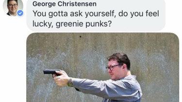 Mr  Christensen's Facebook post.