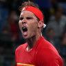 Nadal survives scare against brilliant de Minaur