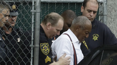 Bill Cosby leaves court after his sentencing hearing last month.