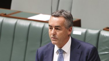Nationals MP Darren Chester speaking in the House of Representatives.