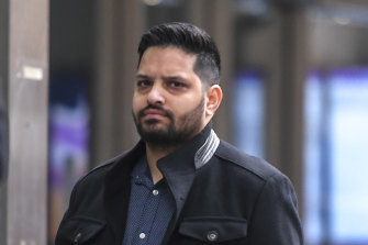 Rajesh Kumar outside court in June 2020.