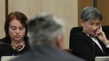 Labor Senators Kimberley Kitching and Penny Wong put questions to Finance Minister Mathias Cormann.