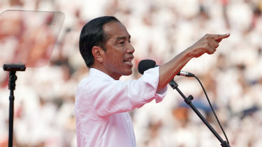 Joko Widodo during the presidential election (which he won) earlier this month.