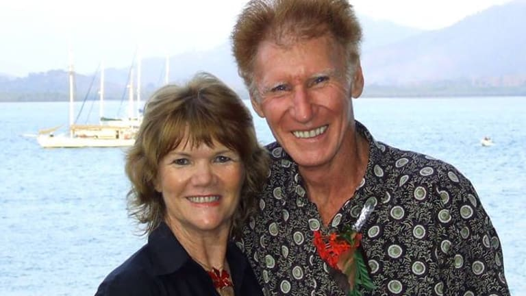 Anthony Mahoney is pictured with his wife Shelley, who also died in a maritime accident.
