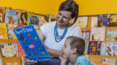 Rachel Brittliff, pictured with son Ethan, is a regular library user.