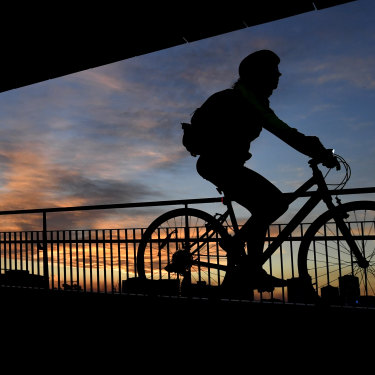 Cyclists have made the most of quieter roads in Brisbane's coronavirus-induced shutdown.